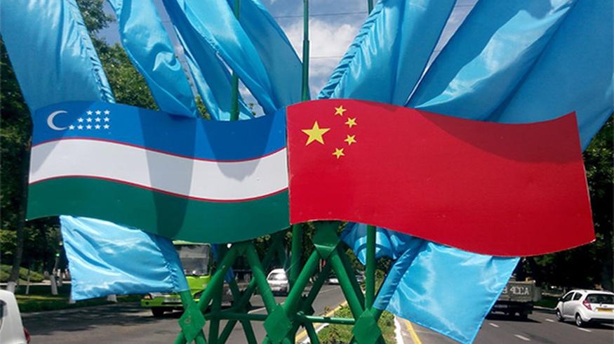 флаги узбекско-китайской дружбы