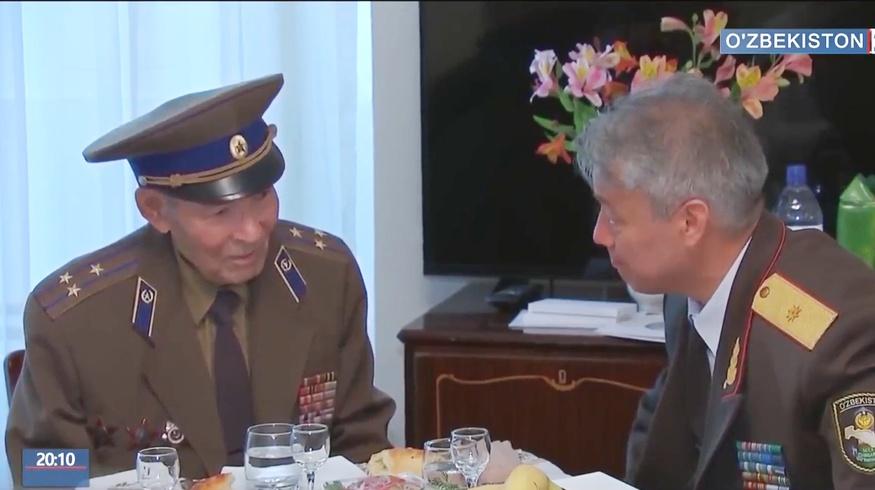 Руководители СГБ Узбекистана поздравили ветеранов войны с 9 мая (видео)